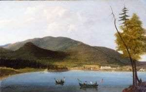View of Caldwell, Lake George, by William Tolman Carlton