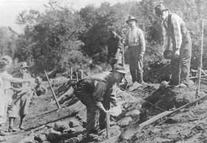 1932 Lake Placid Bobsled Track Construction