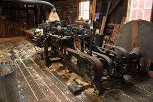 1913 water-powerd Hemance moulder at Hanford Mills