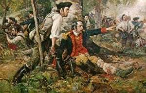 Herkimer at the Battle of Oriskany, August 6 1777 by Frederick Coffay Yohn