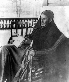 Last Photograph of Ulysses Grant in his favorite chair