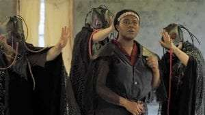 Kiara Wade as Macbeth in the 2019 Adirondack Lakes Summer Theatre Festival production of Macbeth