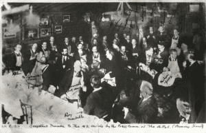 AAPS all-male stake dinner at Healy's on 8 March 1913