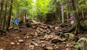 Cascade trail erosion provided by Adirondack Council