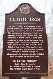 Flight 6231 Memorial provided by Historical Society of Rockland County