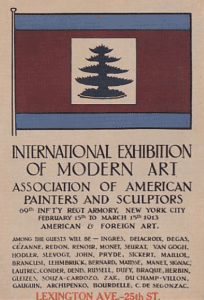International Exhibition of Modern Art event flier