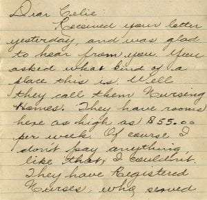 John Patrick Kenney letter to his wife, August 1, 1930. Courtesy of Sue Kenney.
