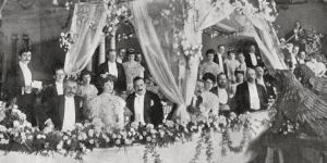 Kessler's Gondola Party at the Savoy Hotel in July 1905
