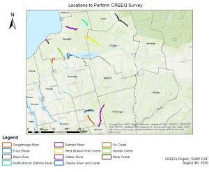 Locations to Perform CREEQ Survey