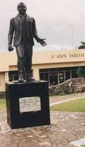 Statue of Marcus Garvey in Saint Ann's Bay courtesy Wikimedia user Banjoman1