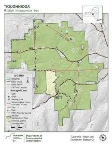 Tioughnioga Wildlife Management Area Map