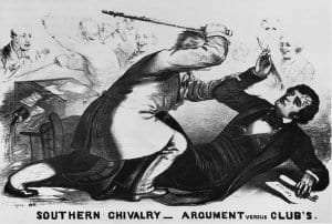 Caning of Senator Sumner in 1856.New York Public Library Photo