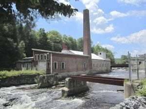 Remains of the Empire Mill in Rock City Falls, Saratoga County, New York (Courtesy Wikipedia User Peter Flass)