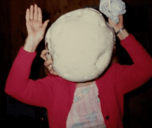 Estelle Nelson with Giant Puff Ball 1990s