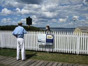 Photo of Sackets Harbor Battlefield History on the Lawn provided