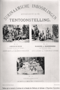 Inhabitants of Surinam at the Amsterdam Colonial Exhibition