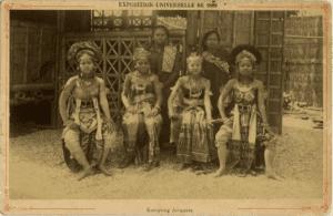 Javanese village at the 1889 World Exhibition in Paris