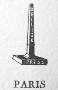 Obelisk Press Paris