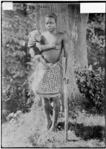 Ota Benga at the Bronx Zoo in 1906