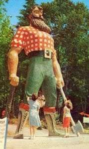 Paul Bunyan at Enchanted Forest in Old Forge