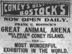 1903 advertisement for Bostock's Great Animal Arena