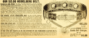 electric Heidelberg belt in the 1902 Sears Roebuck and Co catalogue.