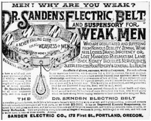 electric belt advertisement