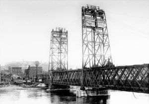 rebuiling of Troy steel bridge