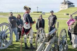 Artillery demonstration at Old Fort Niagara by W Peters
