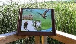 Boardwalk Sign at Finger Lakes Museum