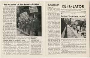 CORE baton rouge protest at white house 1962