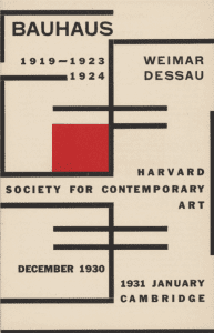 Catalogue for the Harvard Bauhaus Exhibition