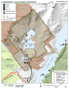 Cederlands Conservation Easement map