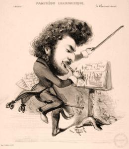 Louis-Antoine Jullien caricature by Benjamin Roubaud