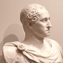 Marble bust of George Washington