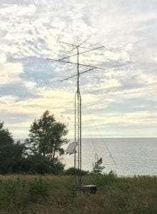 Motus receiver station at Lake Shore Marshes WMA by Todd Alleger