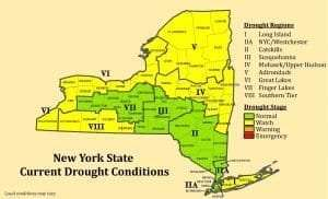 NYS Drought Conditions Map