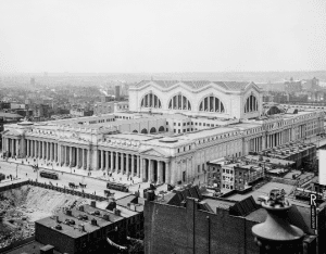 Penn Station around the time of its opening in 1910 courtesy Library of Congress
