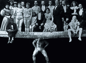 Promotion image for Sandows performance at the Chicago World Fair 1893