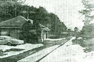 Ray Brook Post Office in the old New York Central station on Ray Brook Road between Lake Placid and Saranac Lake from the Adirondack Daily Enterprise April 7 1971