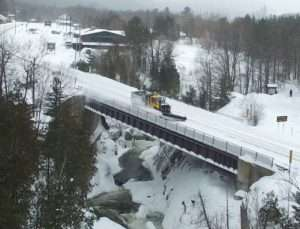 Salt truck on bridge provided by AdkAction