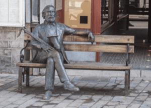 bronze statue of Adolphe Sax