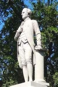 Hamilton statue in New York's Central park