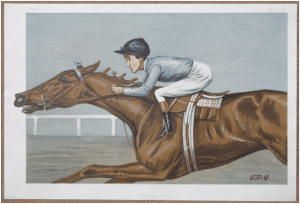 An American Jockey painting