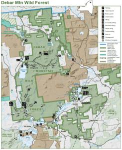 Debar Mountain Wild Forest map