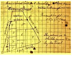Frank Tweedy sketch of Browns Tract