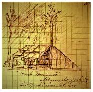 Frank Tweedy sketch of Camp Wormwood