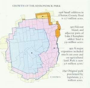 Growth of the Adirondack Park