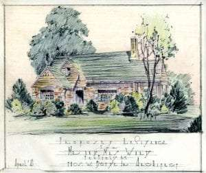 Rendering of a private home in Penfield by Thomas W Boyde Jr