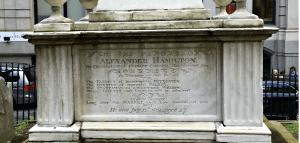 Hamilton grave at Trinity Church in Manhattan